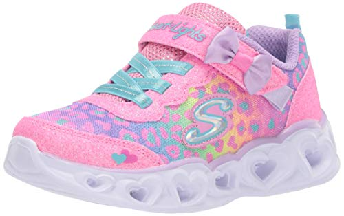 Skechers Mädchen Lights Untamed Hearts Sneaker, Hpmt, 21 EU