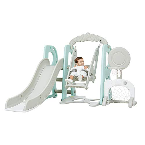 Learn More About KMCMYBANG Slide 4-in-4 White Indoor Slide Toddler Play Family Slide Playground Reco...
