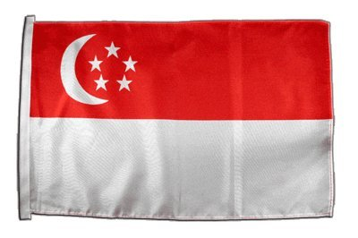 Fahne Flagge Singapur 30 x45 cm