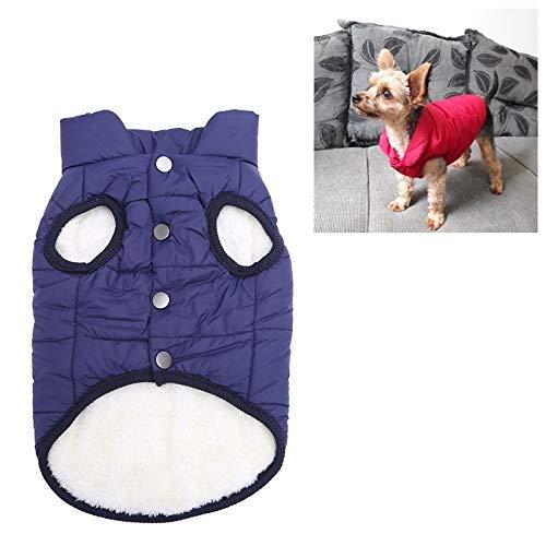 Tuzi Qiuge Mäntel for Hunde Komfort in der Winterkleidung vlies Welpen warme Kleidung Mantel Kleiner Hund Weste gefüttert, Größe: XXXL (blau) (Color : Blue)