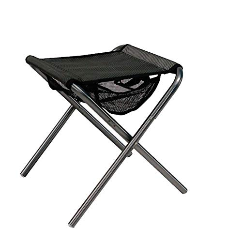 Taburete Plegable Cargadas con 120 kg de aleación de aluminio al aire libre portable de la pesca Silla plegable silla de camping silla de playa Asiento de picnic barbacoa heces bolsa de almacenamiento