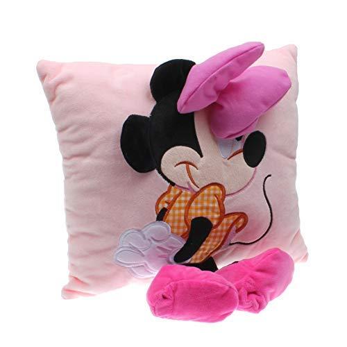 1pc de la felpa del amortiguador de Mickey y minniePlush juguete relleno suave animal de ratón de felpa de dibujos animados almohada del sofá de coche for niños y regalo de cumpleaños del bebé