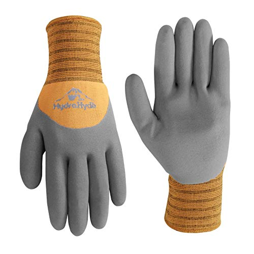 Men's HydraHyde Cold Weather Work Gloves, Water-Resistant Latex Coating, Large (Wells Lamont 555L) -  Wells Lamont Gloves