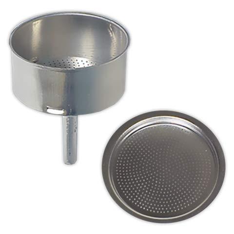 Embudo + Filtro cafetera 12 tazas | TECNHOGAR diámetro 80 mm