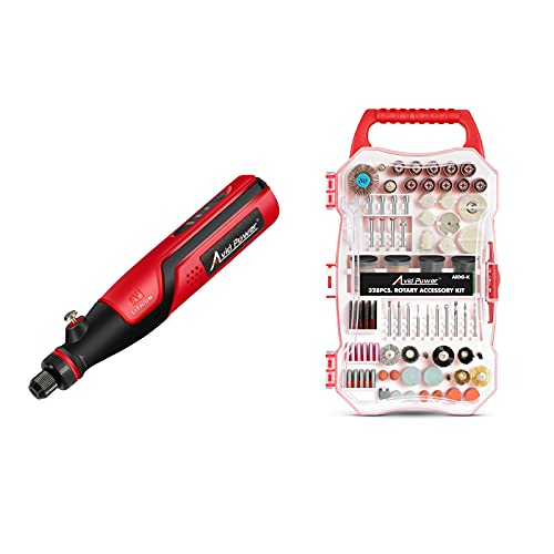 AVID POWER 4V Cordless Rotary Tool with 328PCS Rotary Tool Accessories Kit