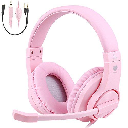 TurnRaise Auriculares para Niños, 40mm Flexible Auriculares con Cable con Micrófono y Control de Volumen