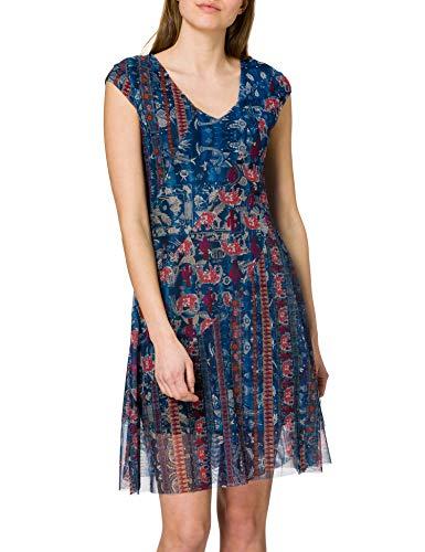 Desigual Vest_Merry Vestido Casual, Azul, XS para Mujer