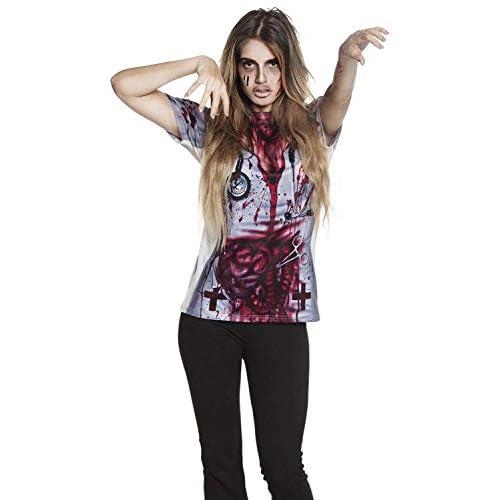 Boland 84324 - Camicia da infermiera realistica, taglia M/L, da donna, multicolore.