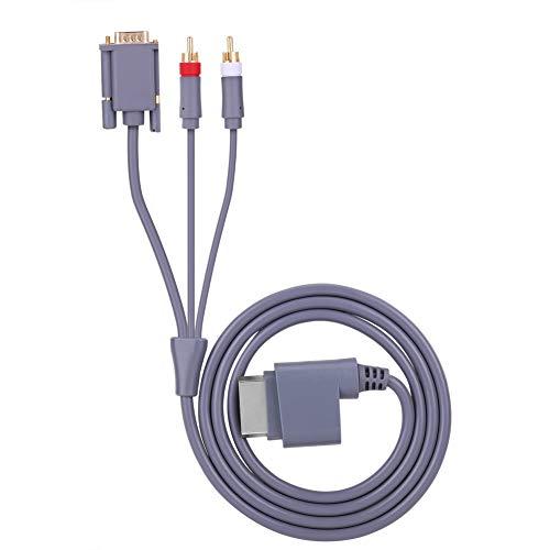 Wacent Conector AV HD Cable de Audio y Video Cable convertidor VGA...
