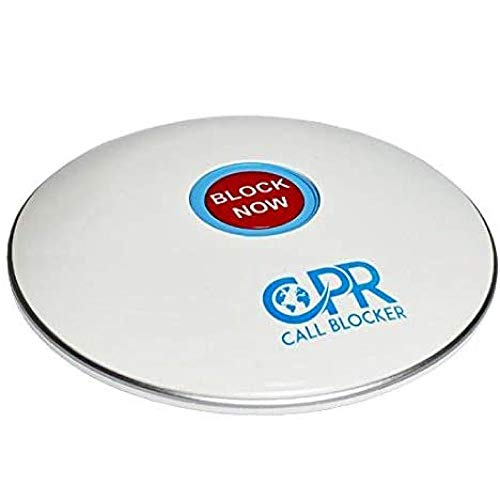 CPR Shield Call Blocker for Landline Phones - Pre-Programmed with 2000 Scam Numbers Plus The Ability to Block A Further 1500 Numbers at The Touch of A Button. (Gloss White)