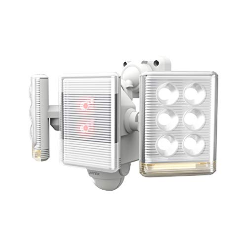 ムサシ RITEX フリーアーム式ミニLEDセンサーライト(9W×2灯) 「コンセント式」 LED-AC2018 ホワイト