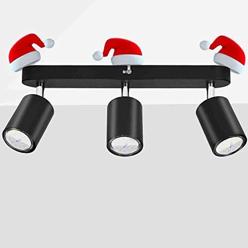 Gr4tec Lámparas de techo 3 Bombillas para Pared Giratorio 350°, Incluye 2 x 6W GU10 Bombillas Blanco Cálido 2800K, Focos para el Techo LED, AC 220V-240V 600LM, Lámparas de Techo Orientales