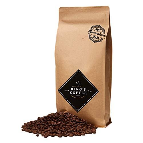 KING'S COFFEE – SPECIAL ROAST | 1kg | Premium Barista Kaffeebohnen | Arabica-Robusta Blend | kleine Chargen-Röstung aus Italien | ganze Espresso-Bohnen für Vollautomaten & Siebträger