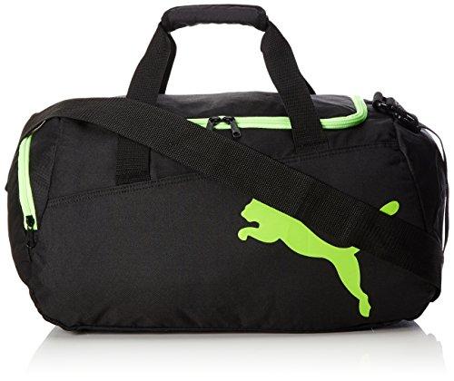PUMA Pro Training S Bag Sporttasche, Black-Green Gecko, 44.5 x 24.5 x 3 cm
