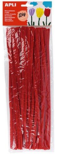APLI - Bolsa limpiapipas rojo, 50 uds
