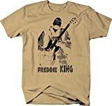 Freddie King Guitar Color T Shirt for Men - Large Tan