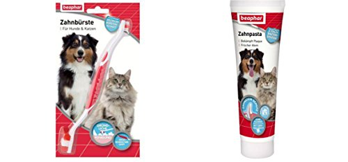 Beaphar Zahnpflegeset Zahnbürste (St.5,48€) +Zahnpasta (100g/5,48€)