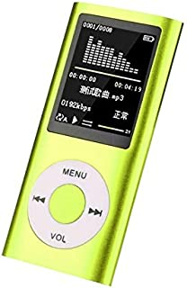 DishyKooker for f/or IP/od Style 32GB Portable 1.8in LCD MP3 MP4 Music Video Media Player FM Radio Portable Colorful MP3 MP4 Player Music Video Green