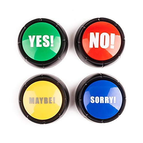 MyMealivos Set of 4 , The NO, YES, Sorry and Maybe Buttons