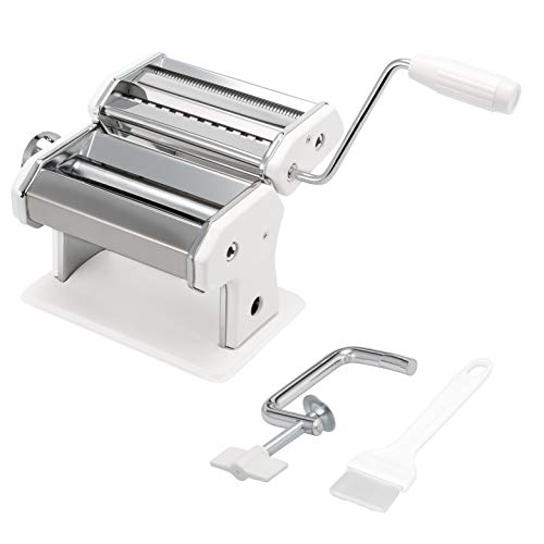 bremermann Máquina de Pasta para Espaguetis, Pasta y lasaña (7 Niveles), máquina de Pasta, Hacedor de Pasta (Blanco)