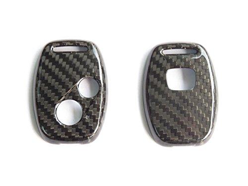 Pinalloy Coque de clé en carbone à 2 boutons pour Honda Type R Civic Jazz Fit