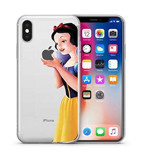 Phone Kandy® Clear/Transparent klar/durchsichtig Hard case for iPhone Cartoon Hülle Abdeckung Haut tascen (iPhone XS Max, Snow White)