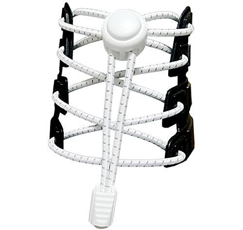Canwn [3 Paar] Elastische Schnürsenkel mit Schnellverschluss, Reflektierend Schnellschnürsystem mit 120cm Länge für Läufer, Kinder, Faule,ältere Menschen und aktiven Lebensstil(Weiß)