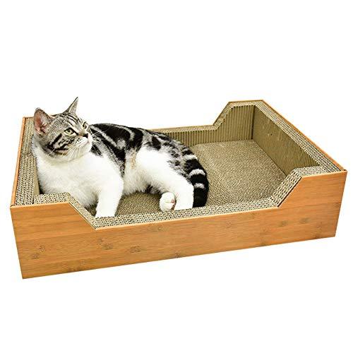ZWW Kat Krabber, Grote Vierkante Gegolfde Kat Krab Doos Karton Vrije tijd Bed Lounger Sofa Nest Meubelbescherming