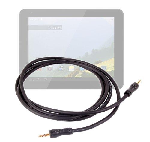 """DURAGADGET Câble Audio stéréo Jack 3,5 mm Haute qualité à fiches mâles pour tablettes tactiles Auchan QILIVE 9.7 B600121 & 9.7R B600122 (Android 4.1.2, écran 9,7"""")"""