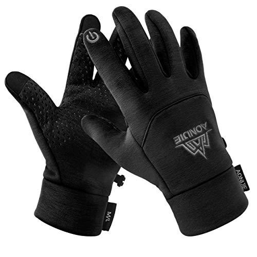 Azarxis Lichte touchscreen-handschoenen, heren winterhandschoenen voor motorfiets, fiets, outdoor sports