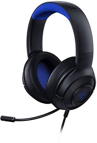 Razer Kraken X for Console - Gaming Headset (Ultra-leichte Gaming Kopfhörer für PC, Mac, PS4, Xbox One & Switch mit 7.1 Surround Sound, Integrierte Bedienelemente, schwarz/blau)