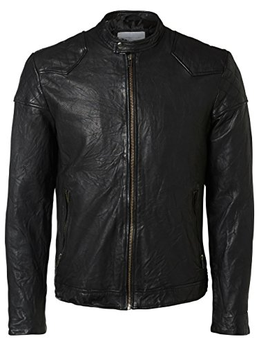 SELECTED HOMME Shnnewryan Leather Jacket Noos Chaqueta para Hombre