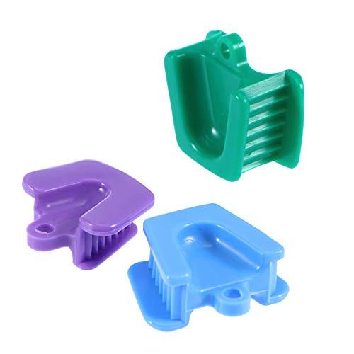 HEALLILY 3 Piezas de Soporte de Boca Dental Bloque de Mordida Abrelatas Retractor Soporte Boquilla Mordedura Boca Bloque Pequeño Mediano Tamaño Grande (Azul Verde Y Morado)