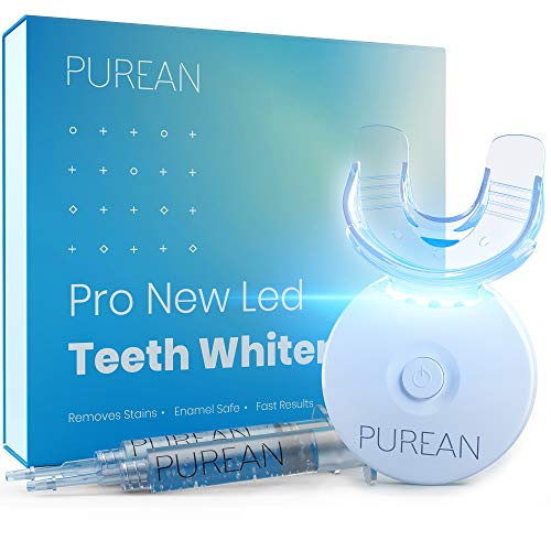 Purean Teeth Whitening Kit with LED Light – 2 Syringes of 5ml Professional 35% Carbamide Peroxide...