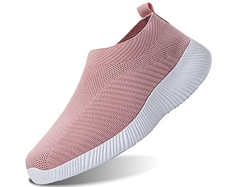 IYVW 1926 Sportschuhe Laufschuhe Turnschuhe Atmungsaktiv Sneakers Air Sport Casual Shoes Damen Pink 36 EU