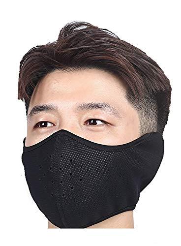 TOOFLEE Half Face Mask Black for Men amp Women – Adult Half Face Cover Mask – Best Shield for Outdoor Skiing Running Biking Trekking – Soft Fleece EarFlap Half Face Mask