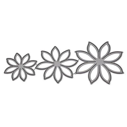 Xmiral Prägeschablonen Scrapbooking Stanzen Schablonen,3D Stereo Blume(H)