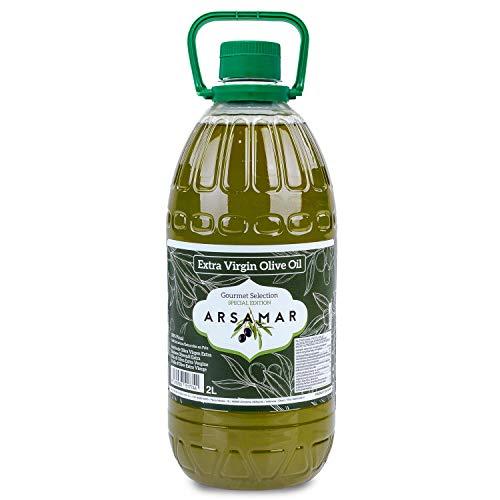 Extra vierge olijfolie Vroege extractie verkregen uit de eerste koude persing van de voortreffelijke Picual-variëteit (Fles 2 liter)