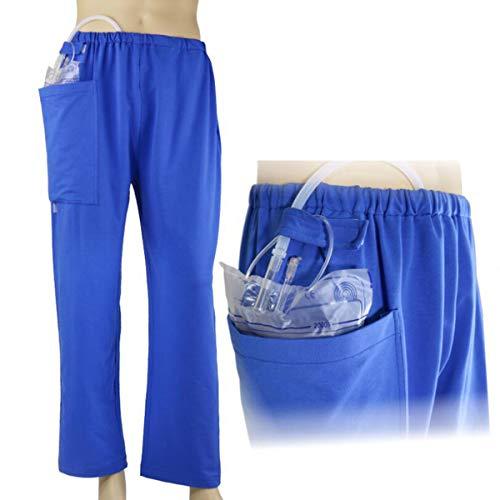 YB-DD Inkontinenz-Versorgung Hose, Urinieren Auslaufbeutel Pflege Hosen Stoma-Schlauch-Shop Hosen für ältere und Behinderung, Stoma-Drainage Bag Pflege Kleidung,L