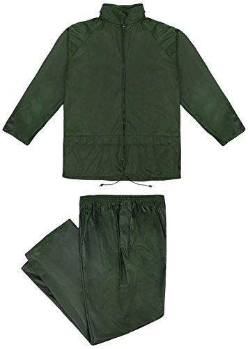 Cofan 11000121-XL Trajes agua triple capa, Verde, XL