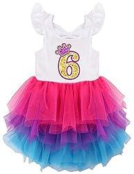No6 White Sleeveless Birthday Party Dress with Mesh Skirt