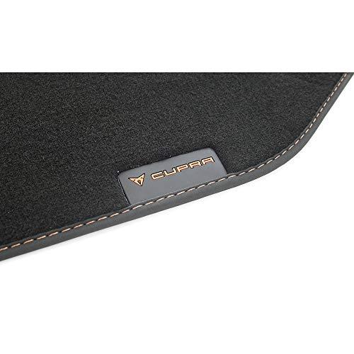 Alfombrillas para Seat 576863011LOE Cupra de Tela, Color Negro y Cobre