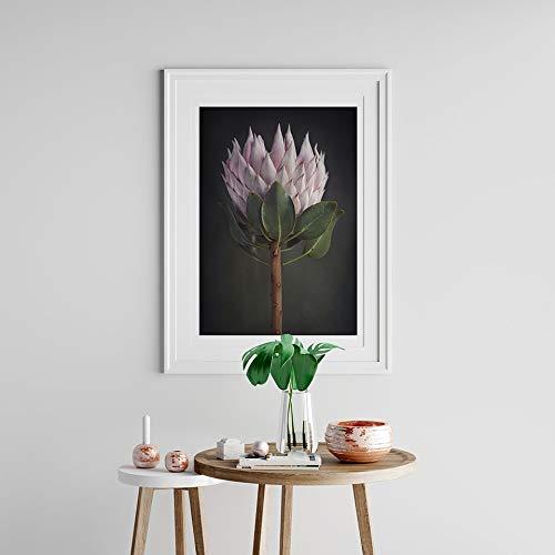 UIOLK Póster de Flores nórdicas Estilo Bohemio Lienzo fotografía Arte Pared para Sala de Estar Pintura Decorativa Moderna