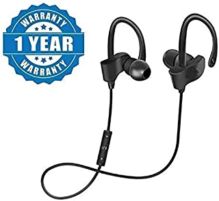 LIMESHOT QC10 Bluetooth Earphone Wireless Headphones for Mobile Phone Sports Stereo Jogger,Running,Gyming Bluetooth Headset Compatible with All Devices(Multicolour)