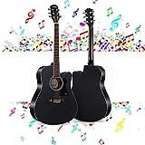 Guitarra Acústica Tamaño completo Guitarra clásica Guitarra para adultos Kit para principiantes con Funda, instrumentos de cuerda, picos, Correa, Set de guitarra seccionada Llevar Mate Puesta de sol c