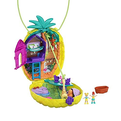 Polly Pocket Polly & Lila Tropicool Pineapple Wearable Purse Compact