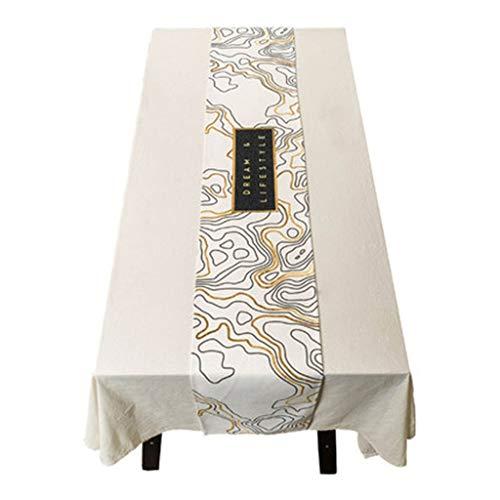 Tafelloper Modern Eenvoudige katoen en hennep Dining Coffee Table Runner Tapestry hoes van Wedding Party Decoration (wit) Tafelkleed-4.16 (Size : 30 * 240cm)