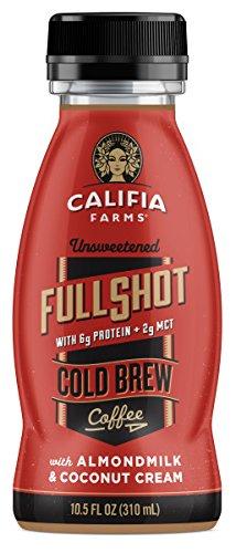 Califia Farms Keto Unsweetened Cold Brew Coffee with Almondmilk & Coconut Cream, 10.5 Oz (Pack of 12)   w/ Protein MCT Oil   Dairy Free   Plant Based   Nut Milk   Vegan