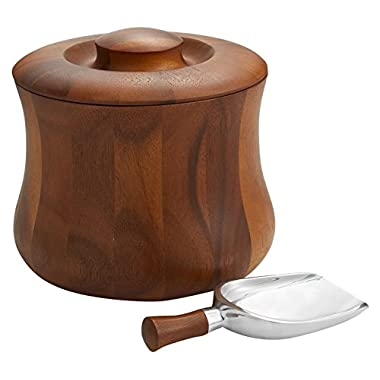 Nambé MT0914 Nara Wood Ice Bucket, Medium, Brown