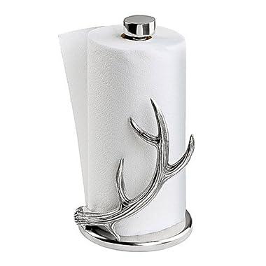 Arthur Court Designs Aluminum Deer 13  Antler Paper Towel Holder
